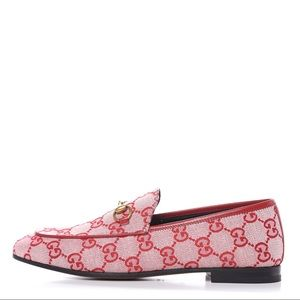 GUCCI Women's Jordaan GG Canvas Loafers